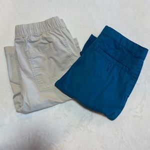 Old Navy Beige & Blue Boys Shorts Size 16